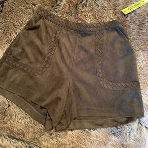GB suede shorts